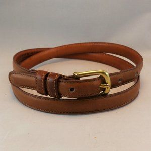 British Tan Cowhide Leather Belt #2800 Brass USA